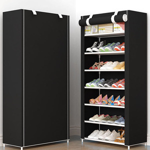 Image 3 - Creative Eight Layers Shoe Cabinet Modern Non woven Furniture Shoe Rack Shoe Organizer Shoemaker Stand For Footwear