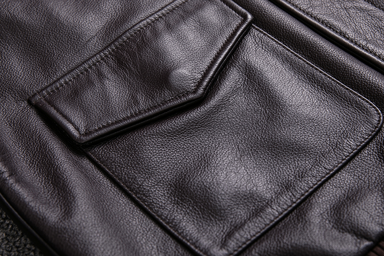HTB1MzfUXjnuK1RkSmFPq6AuzFXaX MAPLESTEED Men Leather Jacket Military Pilot Jackets Air Force Flight A2 Jacket Black Brown 100% Calf Skin Coat Autumn 4XL M154