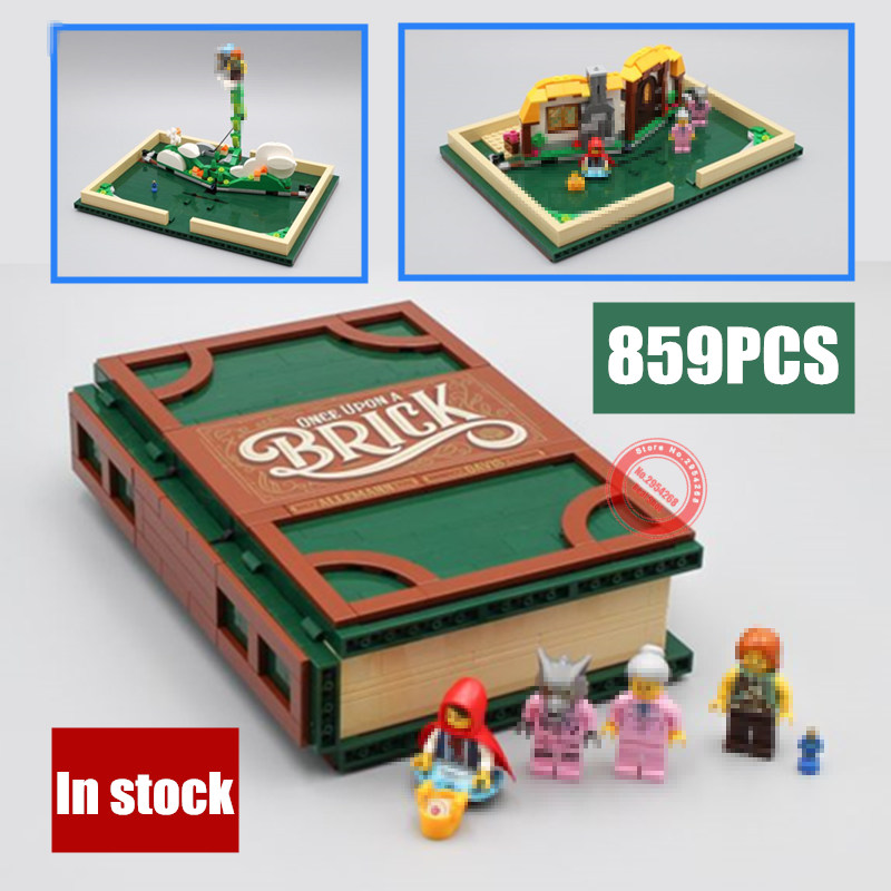 New Idea Series Pop-up Book fit legoings 21315 city girls Model Store book Building Blocks Bricks Educational diy Toys kid gift