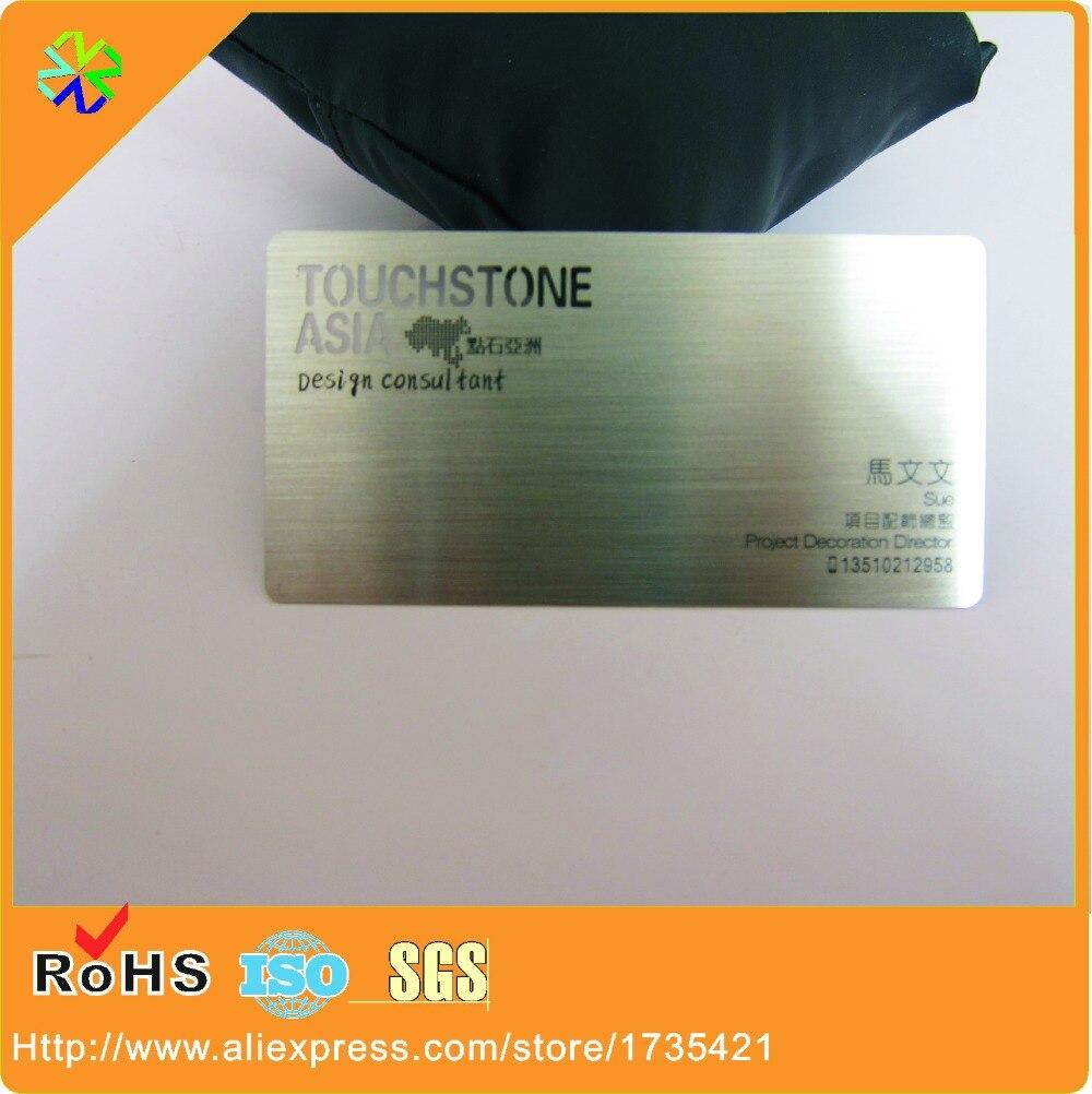 Cartes De Visite Brushed Metal Business Card 4