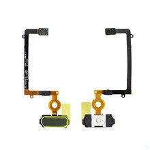 5pcs/lot Original GoldWhite/Black Fingerprint Sensor Home Return Key Menu Button Flex Cable For Samsung Galaxy S6 Edge