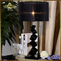 Fashion black k9 crystal table lamp luxury high quality crystal table lamp for bedroom hotel lobby table lamp de mesa lamparas