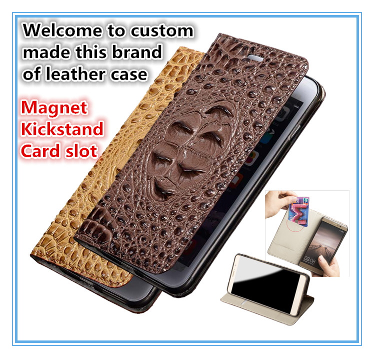 TZ08 Magnet genuine leather kickstand flip case cover with card slots for font b OnePlus b