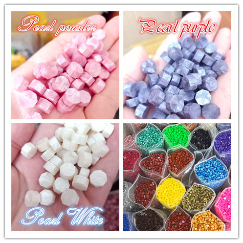 100Pcs/Lot Retro Octagon Stamping Sealing Wax Beads Wax Seal Stamps For Envelope Documents Wedding Invitation Decorative Supply