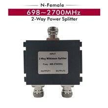 698 ~ 2700 MHz Splitter 2   Way N   หญิง Splitter Power Divider สำหรับเชื่อมต่อ 2G 3G โทรศัพท์มือถือ 4G Booster สัญญาณเสาอากาศ Repeater สาย