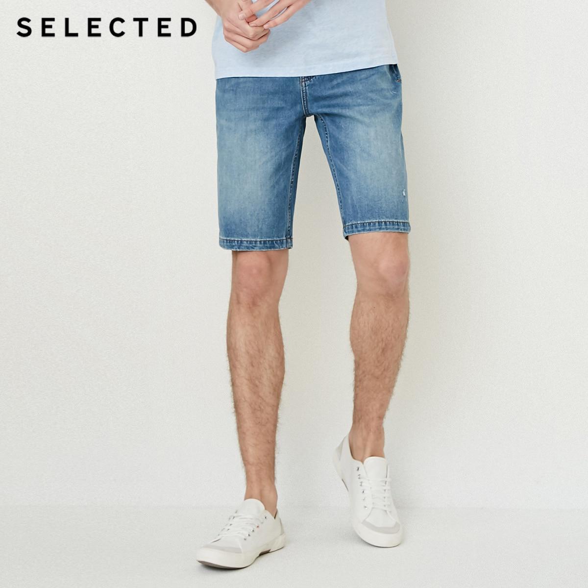 6d8875a7f8 Seleccionados mezcla de algodón lavado de ocio pantalones cortos de jean C