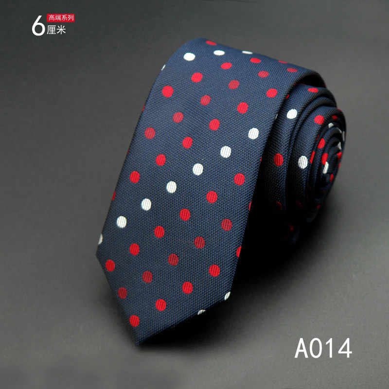 SCST Marka 2017 Yeni Cravat Beyaz Kırmızı Nokta Baskı Siyah Düğün Kravat Ince Erkek Kravat 6 cm ipek kravatlar Erkekler Için kravat Gravata CR059
