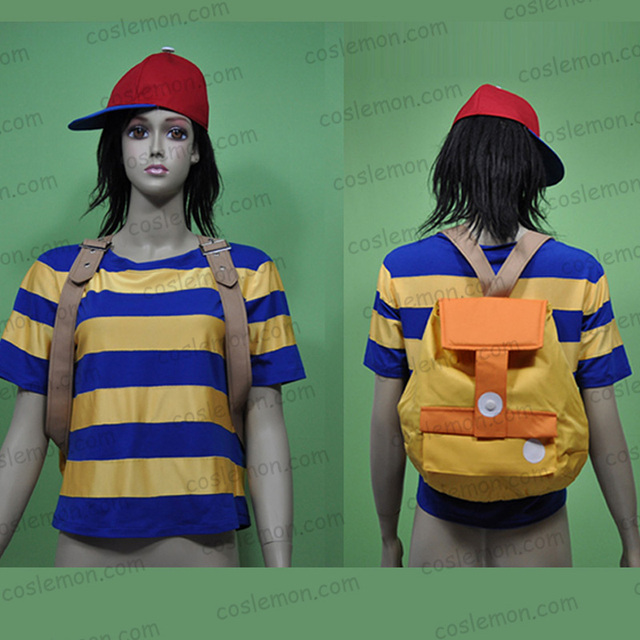 earthbound mother 2 ness cosplay costume halloween uniform outfit shirtbackpack custom made