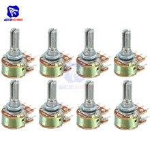 5 шт./лот, резистор потенциометра 1K 2K 5K 10K 20K 50K 100K 500K Ohm WH148, 6-контактный линейный конический поворотный потенциометр для Arduino