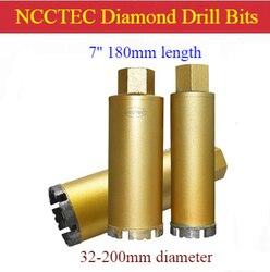 1 ''- 8'' * 7 ''short crown DRY wiertła diamentowe skrzynka na kable otwieracz do otworów | 25-200mm * 180mm beton zbrojony okap