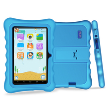 Yuntab 7 pulgadas Quad Core Tablet PC carga Iwawa kid software con doble cámara, 3D-Game bluetooth Niños Tablet con Chic soporte caso