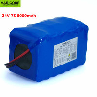 24 В 7S4P 8000 мАч высокой мощности 8AH 18650 литиевая Батарея пакет с BMS 29,4 В для электрический велосипед автомобиль игрушки резервного питания