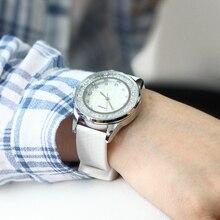 SINOBI Fashion Women's Diamonds Wrist Watches Silicone Watchband Top Luxury Brand Ladies Geneva Quartz Clock Females Hours 2017
