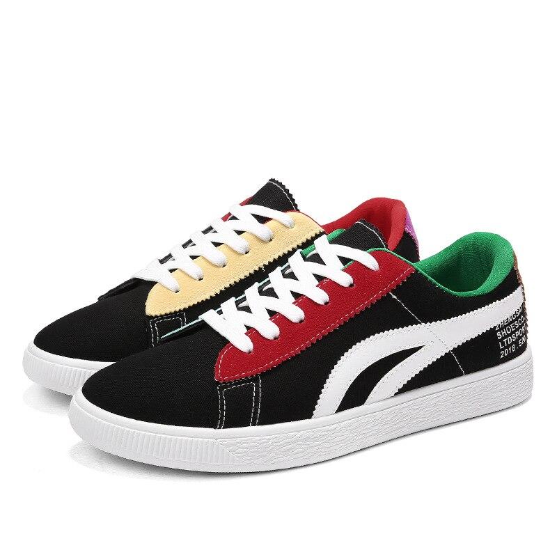 99db37325586a Lona Niños Casual De Estudiantes Para blanco Negro Vulcanizar zapatos  Zapatos Zapatillas Primavera Planos Ocio Sólido Moda ...