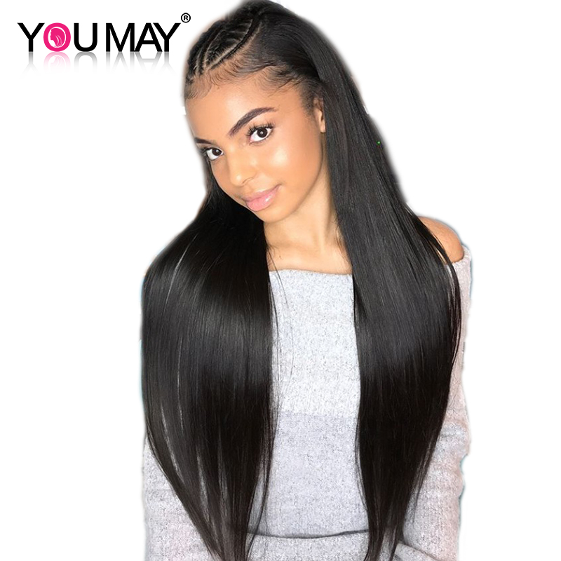 13x4 Lace Front Human Hair Wigs With Baby Hair 250 Density Straight Lace Front Wigs Brazilian