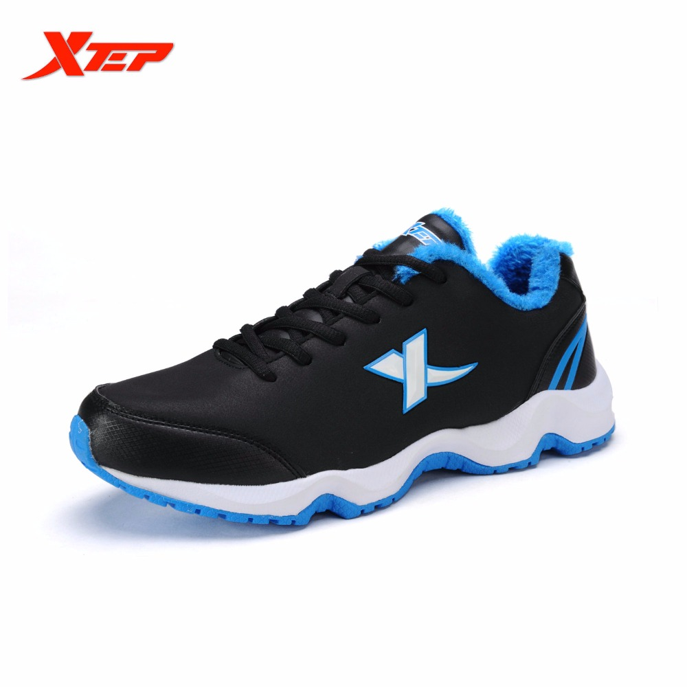 ФОТО XTEP Original Men's Winter Thermal Outdoor Athletic Running Shoes Leather Sports Sneakers Warm Comfortable Shoes 986419379509