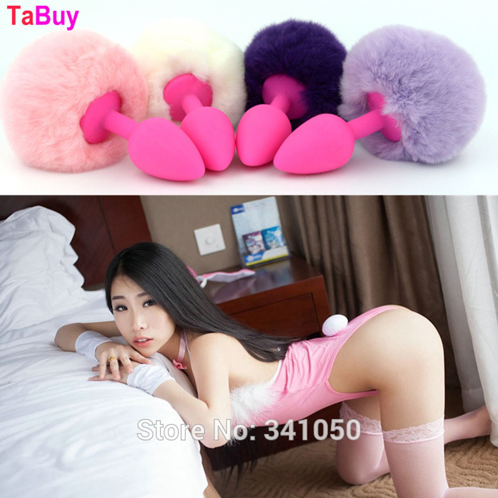 Tabuy Small Silicone Panties With Anal Plug Tail Rabbit Tail Anal Sex Toys Butt Pluganal Toy Fox Tail