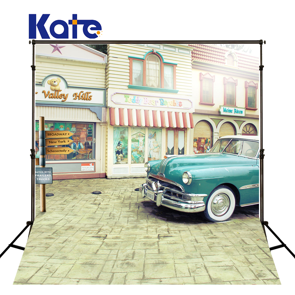 Photo Backdrops Street Green Car Photography Newborn Toy Store Indicator Photo Backdrops Background photo