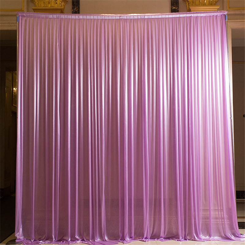 wholesale and retail 3x3m white and gold wedding backdrop curtain wedding drapes , wedding stage backdrop