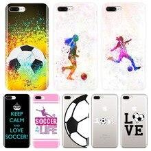 Capa traseira para iphone 6 s 6 s 7 8 x xr xs max futebol amor coração meninos macio silicone caso do telefone para iphone 8 7 6 s 6 s plus