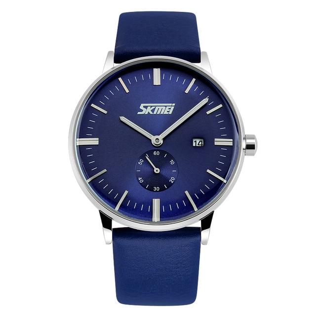 be48a79df30 SKMEI 9083 Relógios Homens Clássico Relógio de Quartzo Relógio Masculino  Moda Ocasional Genuínos Homens Pulseira de