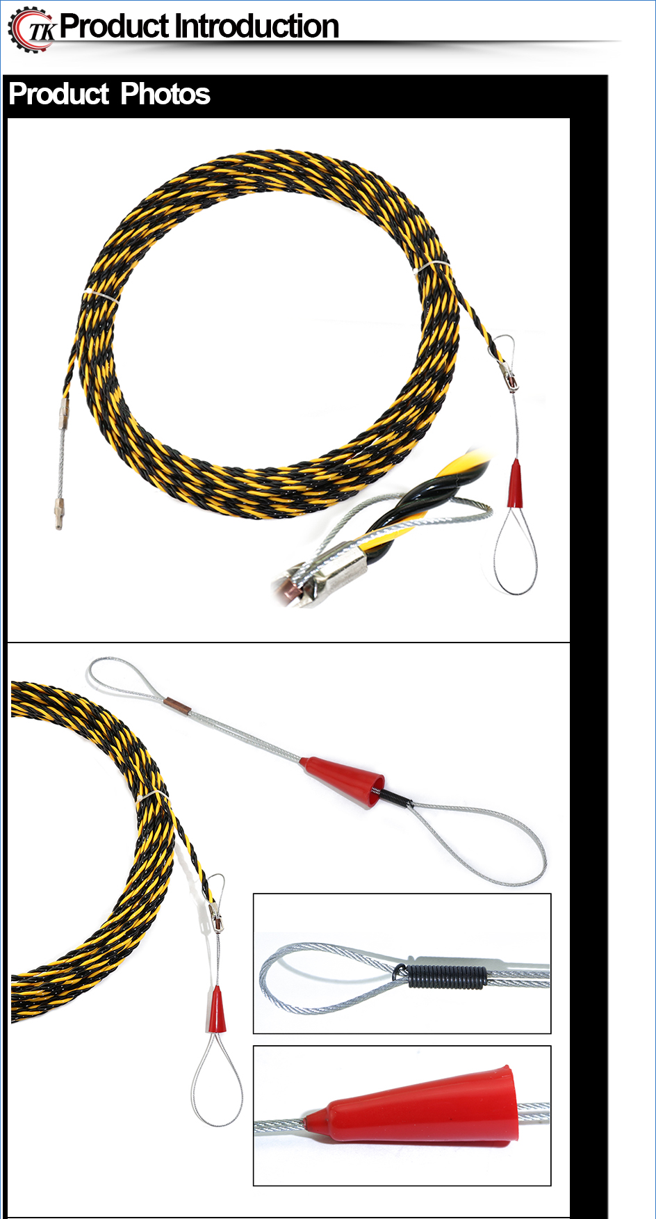 New 65mm20m Nylon Fish Tape Electric Cable Push Puller Snake Electrical Wiring Conduit Item Color Displayed In Photos May Be Showing Slightly Different On Your Computer Monitor Since Monitors Are Not Calibrated Same