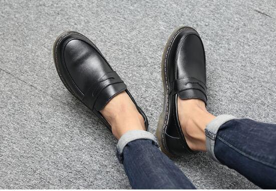 Bout Rétro Chaussures Red Oxford on En Plein Rond Slip Véritable grey Pour Hommes Bureau Confortable Cuir blue black Wine brown Air Robe TWYvq0xvw