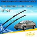 "Escovas para honda civic (1995-2001) 1996 1997 1998 1999 2000 carro brisas limpador limpador de parabrisa blade 20 ""+ 18"" carros estilo"