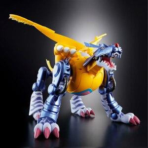 Image 5 - بانداي الأصلي Digimon الوحش Gabumon معدن Garurumon عمل نموذج لجسم تعديل تشوه