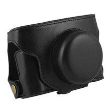 Para FUJIFILM câmera digital Fujifilm X30 dedicado câmera caso couro PU com cinto de ombro (preto)
