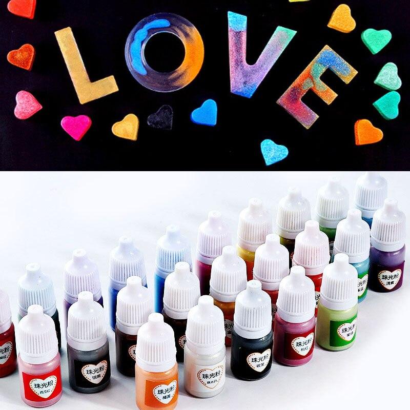 Hot Crafts Pigment Powder Pearlescent Mica UV Resin Epoxy Powder DIY Crafts Accessories HD88