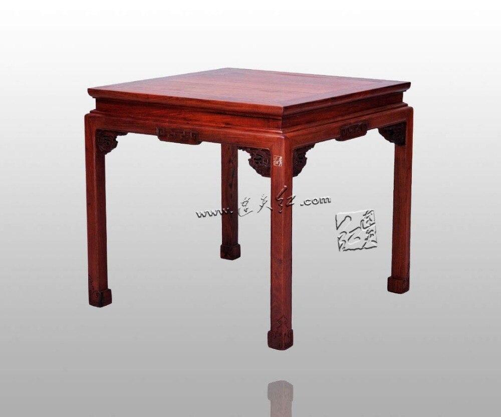 US $984.2 5% di SCONTO|Cinese Antico Sequoia Mogano Tavoli in legno  Massello Classica Piazza Scrivania Soggiorno Sala da pranzo Mobili In Legno  di ...