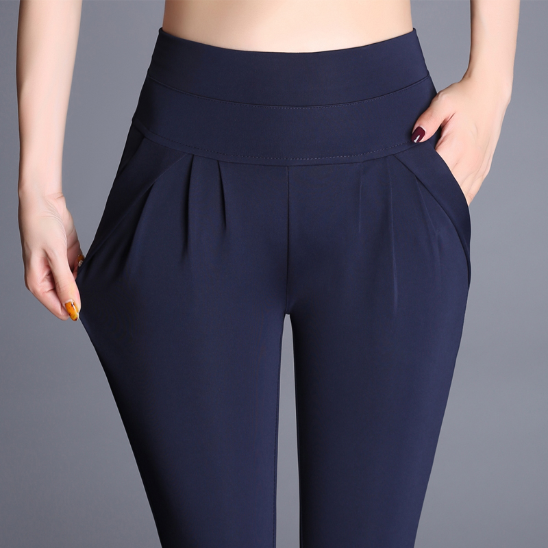 2018 Women Plus Size 6XL Harem Pant Lady Full Length Leggings Sexy High Waist Spring Autumn Trousers Red Green Black Khaki Pants