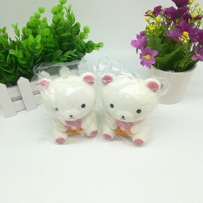 HIINST Squishy White Bear Toast Scented Charm Slow Rising Squeeze Stress Reliever Toy dropship p30 mar27
