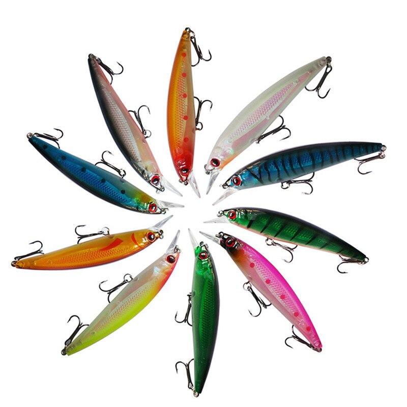 11CM 14G Laser Minnow Fishing Lure Pesca Hooks Fish Tackle Crankbait Artificial Japan Hard Bait Swimbait
