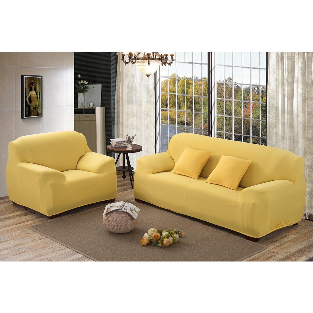 2 3 4 Seater Elastic Sofa Cover Anti Dust Sectional