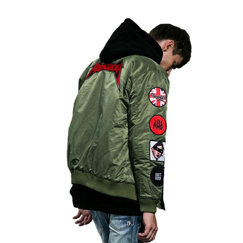 Vestes Hommes Survêtement Badge Bomber Vol red Épais Pour green Personnalité Manteau De Haute QualitéRock femmes Musique Hiver Black Veste j354ALcRq