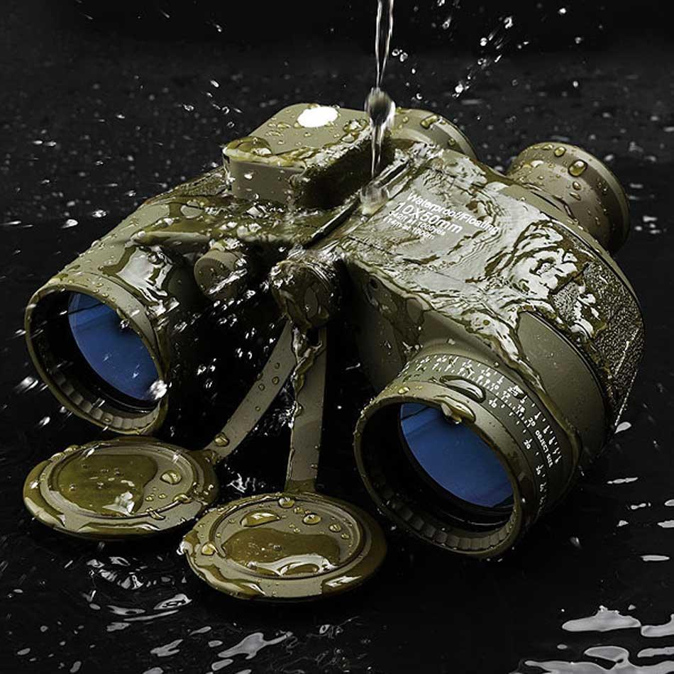 Fernglas 10x50 Professionelle Marine Wasserdichte Digital Kompass in Jagd Teleskop High power Lll nachtsicht dropshipping