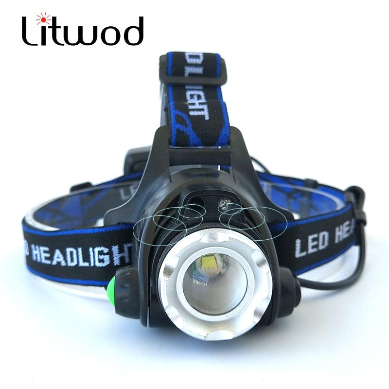 LED Headlight 5000lm T6/L2 led headlamp zoom head flashlight adjustable headlamp Optional accessorie 18650 battery front light