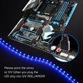 Светодиодный 4-контактный светодиодный светильник DC12V RGB ADD_Header 5050 SMD для ПК, чехол с подсветкой, RGB материнская плата, панель управления, меняю...