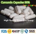 Best quality 100pcs Curcumin Capsules 98% HPLC / Turmeric Capsules 98% antioxidant Heart Health Weight Loss free shipping