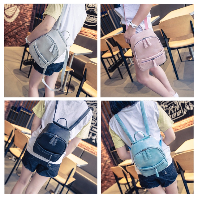 placeholder Miyahouse Korea Style Women Backpack Fashion Candy Color Mini  Backpacks Ladies Casual PU Leather Backpack Female d181996645