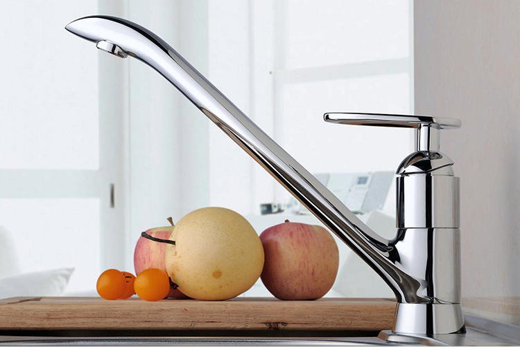 Kitchen Faucet New Rotary Single Leading Fashion Home Furnishing Copper Chrome Kitchen Faucet Water Dish Basin Faucet