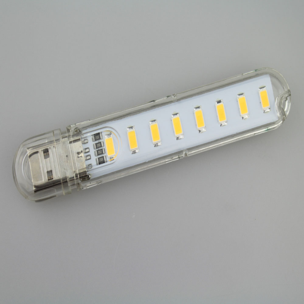 DC5V 8xSMD5730 теплый белый 2700-3500 К USB LED лампы светодиодные лампы ночь