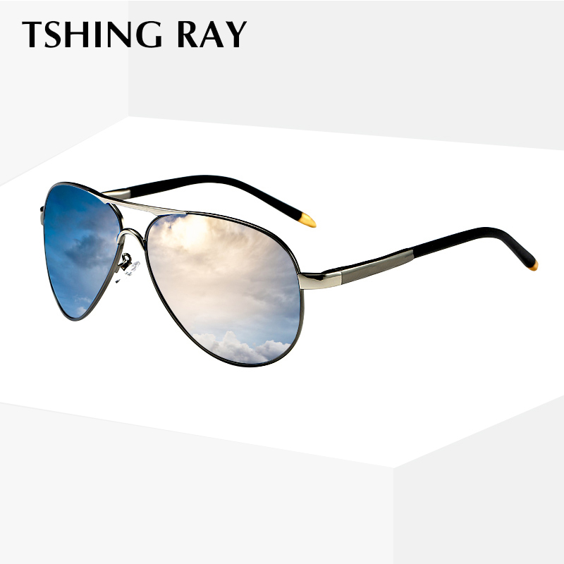 7a33ab7b31a TSHING RAY Brand Polarized Aviation Sunglasses Men Coating Lens Pilot Sun  Glasses Retro Driving Eyeglasses Male