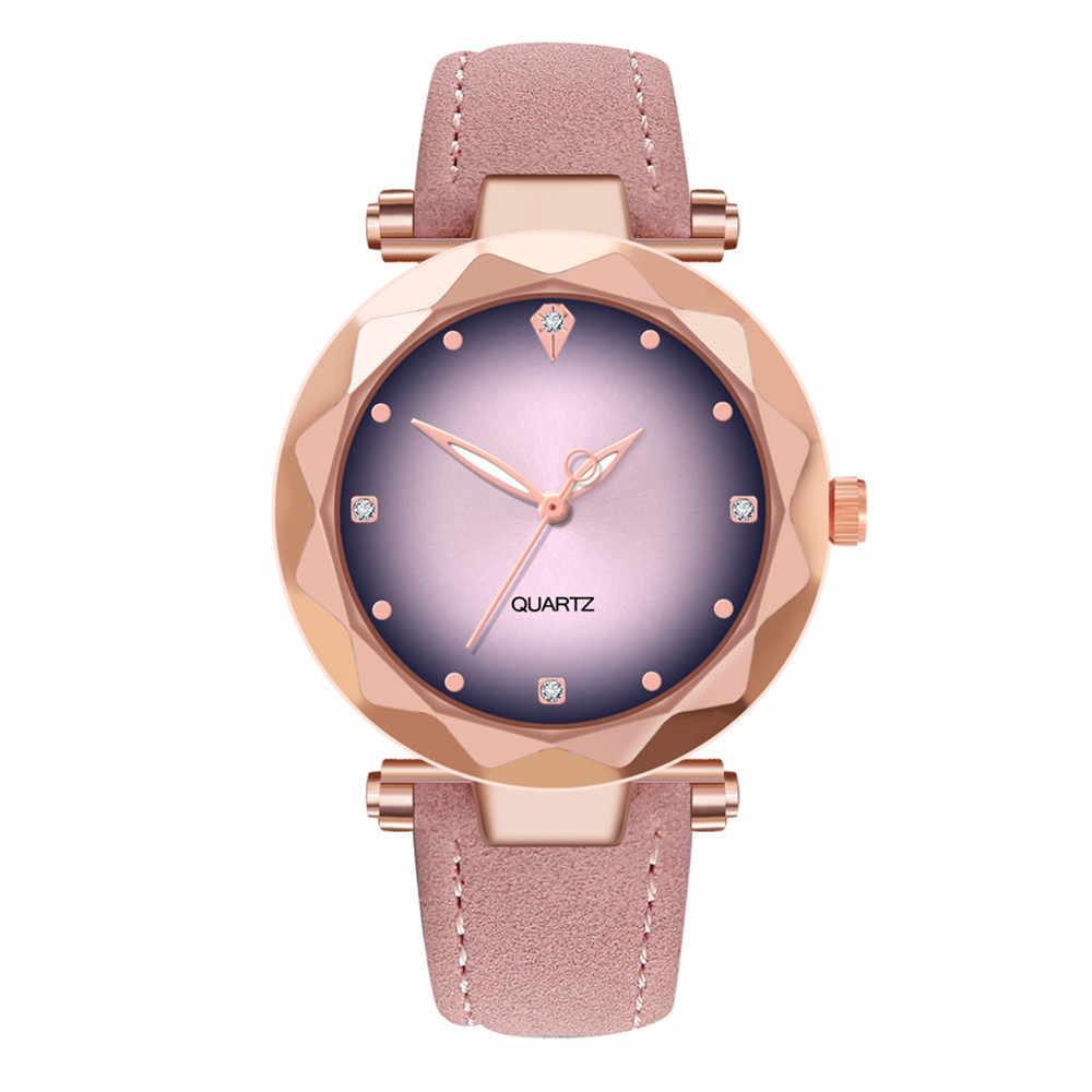 נשים רומנטי שמי זרועי הכוכבים עמיד למים שעון יד עור ריינסטון מעצב גבירותיי שעון יוקרה מותג Relogio Feminino
