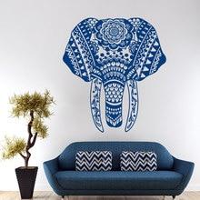 Wall Decal Elephant Mandala Meditation Buddha Bohemian Sticker Bedroom Living Yoga Home Decor Vinyl G-11