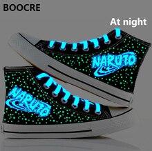 Аниме Наруто Шаринган Акацуки парусиновая обувь Наруто обувь Совет светящаяся обувь косплей Обувь