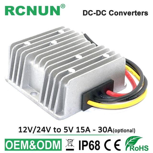 12V to 5V 24V to 5V DC DC Converter Step-down 8-36V to 5V 15A 20A 30A Buck Module CE RoHS RCNUN