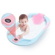 Baby Shower Bath Tubs Care Digital Thermometer Bathtub Seatable Plastic Tube For 0-6 Years Newborn Child